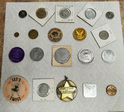 LOT OF 25 Tokens - Variety of Arcade, Car Wash, Military Medals, Parkway & More