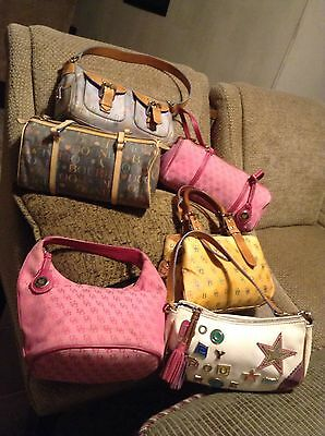 lot of 6 Dooney & Bourke handbags preowned condition.