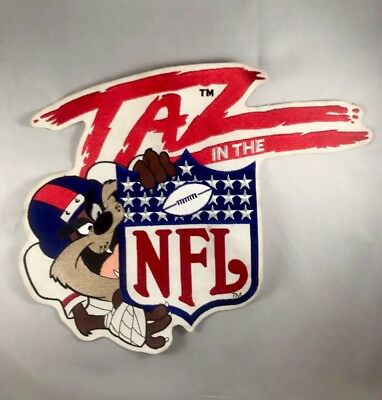 Taz In The NFL Patch Looney Tunes Tasmanian Devil