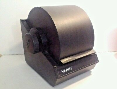 Vintage ROLODEX 2254D Black Metal Rotary Flip Card File with Index Cards No Lock