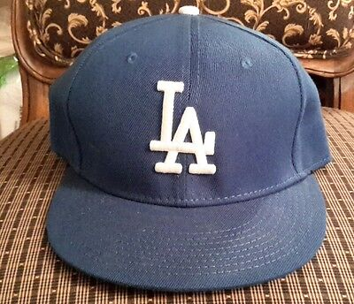 ced085fa775 LOS ANGELES DODGERS Game New Era 5950 Blue MLB Cap Fitted LA On Field Hat  Team