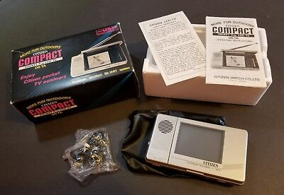 Vintage Portable Citizen Compact Pocket LCD TV Model 06 TA Mint w/ Box
