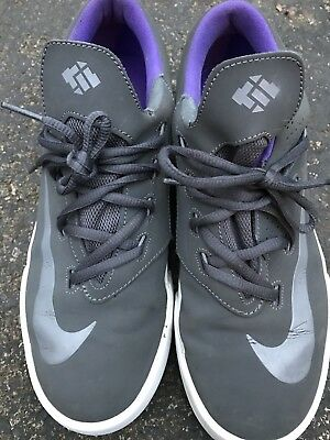 b35a73c40822 Nike KD Boys Mens VULC GS Shoes Size 7Y Gray Purple Low Top 642085 051  Vulcan