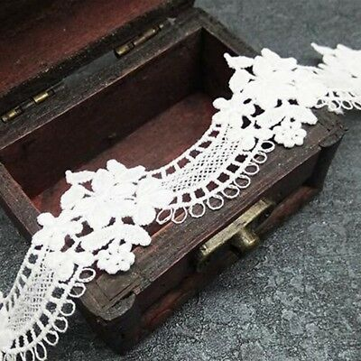Vintage Arch Style Crochet Embroidered Lace Trim Dress Curtain Sewing DIY 5 yard