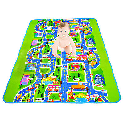 Kids Play Mat Baby Play Crawling Rug Carpet Blanket Kids Toy Traffic City!