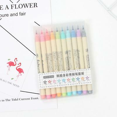 10 Colour Drawing Calligraphy Artist Brush Pens Watercolour Painting Pen Set!