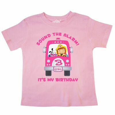 6f7b01a03 Inktastic Fire Truck Girl 3rd Birthday Toddler T-Shirt Third 3 Three Year  Old Im