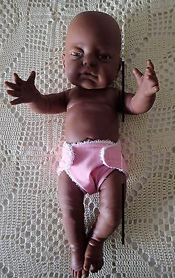 Brown/black Newborn Anatomically Correct 16 Girl Doll-Play,education,