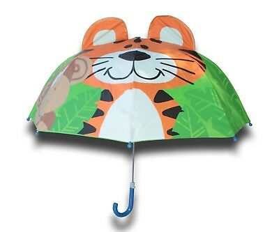 Toddler Little Kid Boys Girls Cute Zoo Pop-up Umbrella Tiger & Monkey Fast Ship