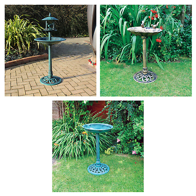 Bird bath or feeder selection choice of weather resistant garden features