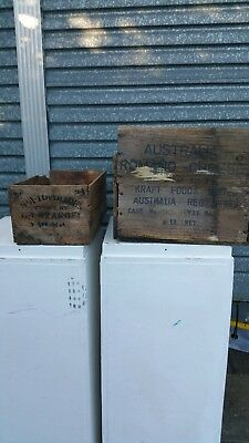 Pair of antique/vintage wooden crates