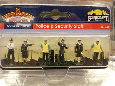 ** Bachmann 36-041 Scenecraft Police and Security Staff (6) 00 Scale