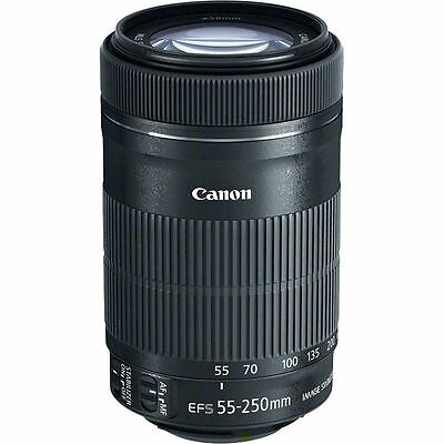 NEW Canon EF-S 55-250mm f/4-5.6 IS STM Lens - UK NEXT DAY DELIVERY