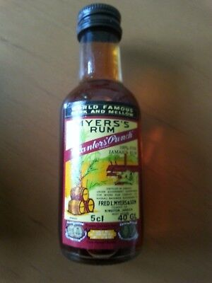 Planters Punch Brand v. Myer´s Rum, 50 ml Miniaturflasche, ca. 1980