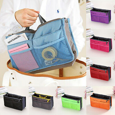 Women Organizer Pocket Travel Toiletry Cosmetic Bag Make Up Storage Case Handbag