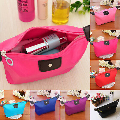 Women Waterproof Cosmetic Makeup Purse Bags Organizer Pouch Pencil Case Handbags