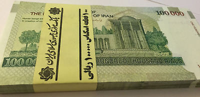 IR 300x 100000  Rials UNCIRCULATED 30 Million Rial Currency UNC bundle