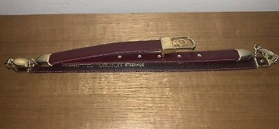 "OROTON Belt Steerhide Leather Vintage ~1970s - 28"" (70cm) Made in NSW, Australia"