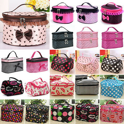 Women Travel Cosmetic Bag Make Up Case Box Pouch Handbag Toiletry Storage Holder