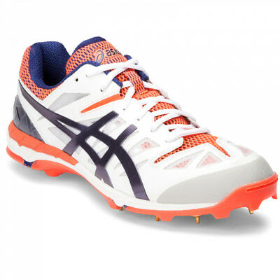 ASICS GEL ODI Spike Cricket Shoe SIZE US 13 Navy/Neon Orange BRAND NEW