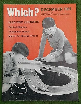 Vintage Which? Magazine Dec 1961 Electric Cokers, Model Car Racing Tracks etc