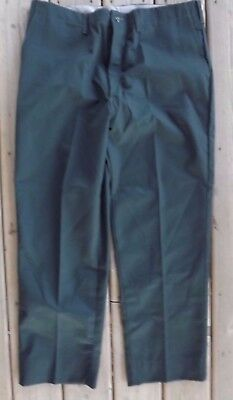 Universal Overall Green Durable Press Pants 38 x 29 Chicago Made In USA
