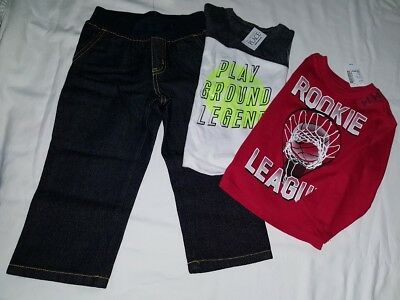 New Gymboree toddler boys 18-24 month jeans tops shirts outfit mixed lot