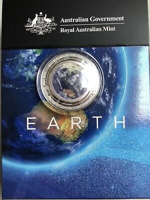The Earth Beyond The Earth 2018 5 Dollar Coloured Fine Silver