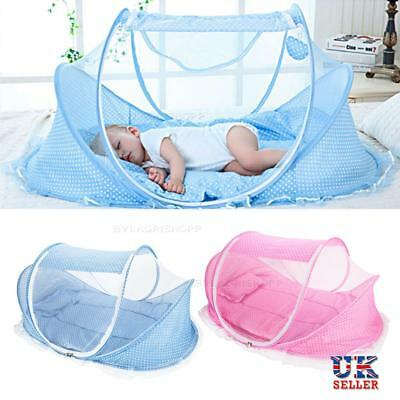 Baby Infant Portable Foldable Travel Crib Canopy Mosquito Net Tent Mattress