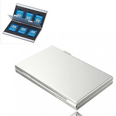 Memory Card  Protecter Card  Holder Storage Case Cover Aluminum Alloy Box