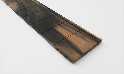 "Black and white ebony guitar fretboard 25"" PRS slotted, compound radius"