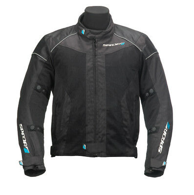 SPADA AIR PRO ARMOURED MOTORCYCLE MOTORBIKE TEXTILE JACKET BLACK new S