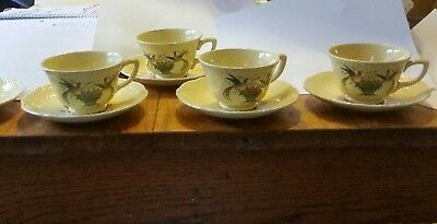 OLD ROMAN by Homer Laughlin EXTREMELY HTF 5 saucers and 4 cups