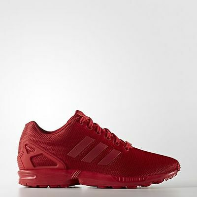 428d70c98 adidas Originals ZX FLUX Triple RED Mens Running Shoes Sneakers S32278 MESH