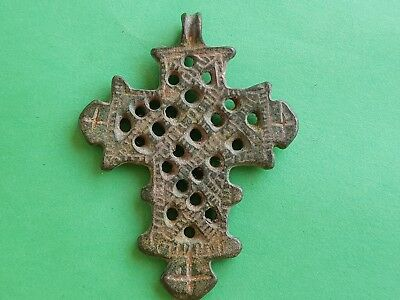 1. Byzantine Empire, Large Christian Bronze Cross - 40x55mm