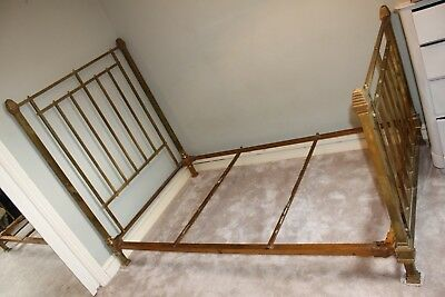 antique art deco brass bed