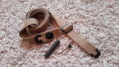 USGI WW2 .30 M1 CARBINE SLING and OILER -  KHAKI COLOR - NEW - FREE SHIPPING