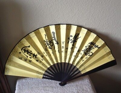 Handmade Bamboo Silk Folding Fan Chinese Style Chinese Hand Painted Design Silk
