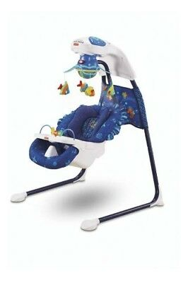 Fisher-Price Ocean Wonders Aquarium Cradle Swing Used in Original Box
