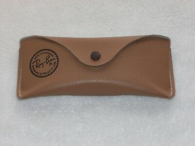 Vtg Bausch & Lomb Ray Ban Tan Pebble Leather Sunglasses Case Only Pat Pending EC