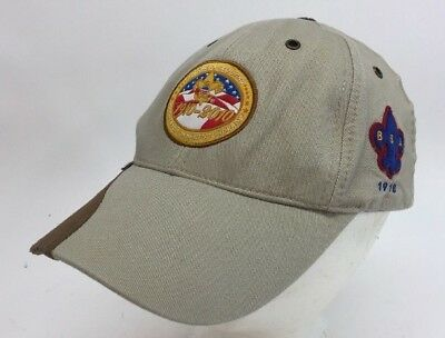 BSA Boy Scouts Of America Tan Hat Cap Celebrating 100 years 1910-2010  EUC