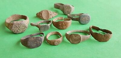 19. Lot 10 pcs. Roman Bronze Rings