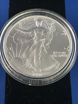 1991 Uncirculated American Eagle .999 Silver Dollar W/cert Of Auth.