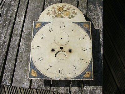long case clock dial/grandfather clock face, break-arch style