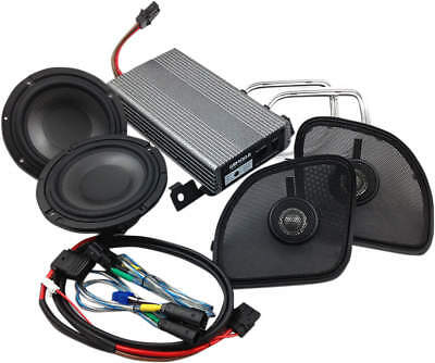 "Hogtunes Wild Boar 400 Watt Amp Kit W/6.5"" Speakers For Harley 15+ Fltr"