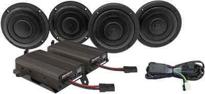 Hogtunes Wild Boar Front/Rear Speakers W/600 Watt Amp Kit Halrey 14+ Flh