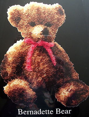 "Latch Hook Teddy Bear   Rug  Kit ""bernadette Bear""  New Design"