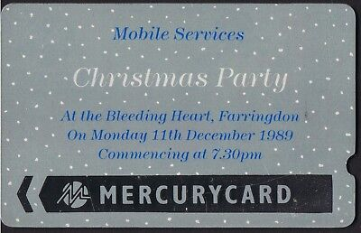 Mercury 1989 MEI01 £2 Mobile Services Christmas Party mint 114 issued Cat £500.