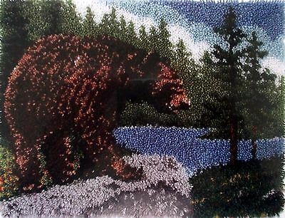 "Wonderart Classic Latch Hook Rug Canvas Kit ""grizzly Bear"""""