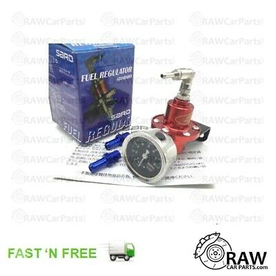SARD Style RED High Performance Adjustable Fuel Pressure Regulator for Turbo JDM